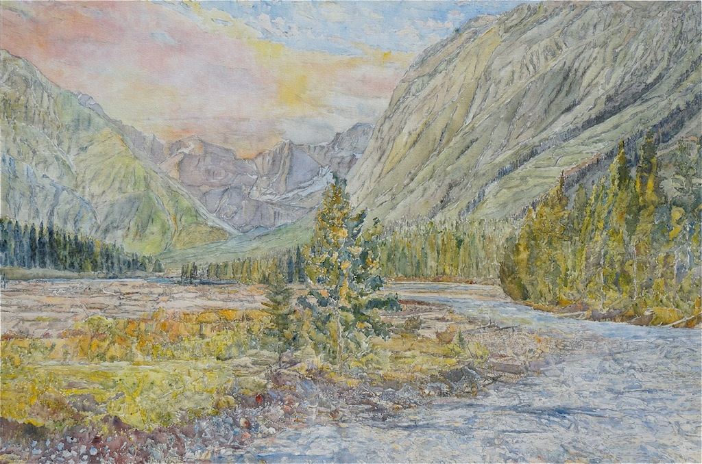 Dorothy Knowles Canadian Landscapes Light on the Mountains